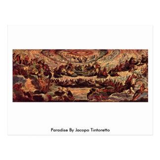Postal Paraíso de Jacopo Tintoretto