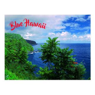 Postal Paraíso tropical de la isla hawaiana