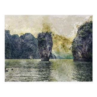 Postal Paraíso tropical de Phuket Tailandia en Asia