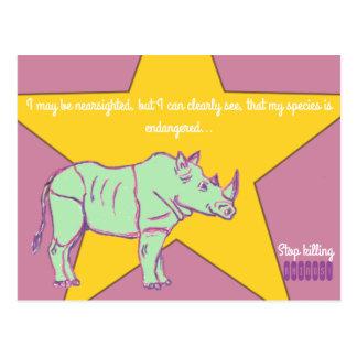 Postal ¡Pare el matar de Rhinos!