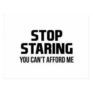 Postal Pare el mirar fijamente