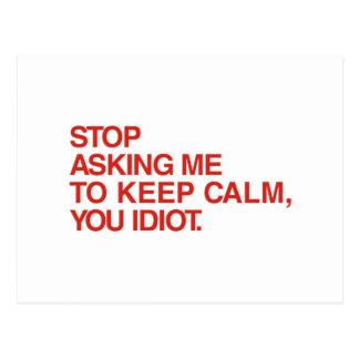 Postal Pare el pedir que de guarde calma