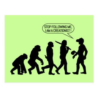 Postal ¡Pare el seguir de mí, yo son un Creationist!
