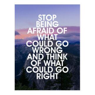 Postal Pare el ser cita de motivación asustada