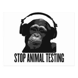 Postal pare los ensayos con animales