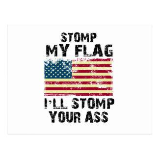 Postal pare mi bandera que pisaré fuerte su