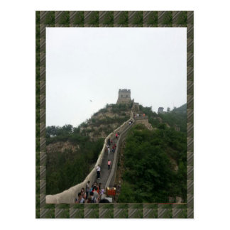 Postal PARED CHINA - tarde vacaciones que caminan