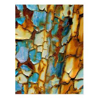 Postal Pared oxidada del azul del trullo