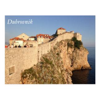 Postal Paredes de la ciudad de Dubrovnik