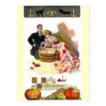 Postal Pares de Halloween del Victorian