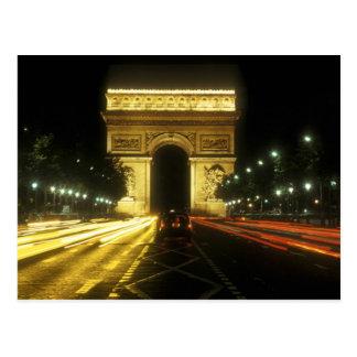 Postal París - Arco de Triunfo -