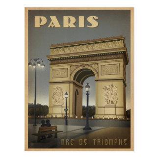 Postal París - Arco del Triunfo