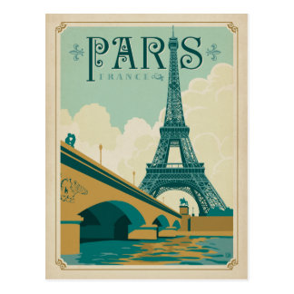Postal París Francia - torre Eiffel