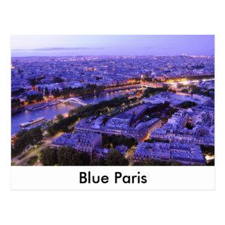 Postal París por noche, río el Sena