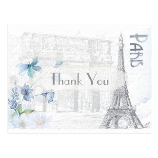 Postal París temática le agradece