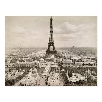 Postal París: Torre Eiffel, 1900