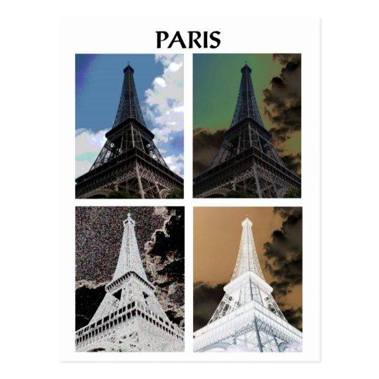 Postal París x4