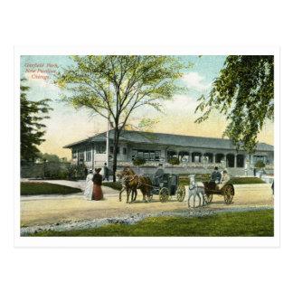 Postal Parque de Garfield, vintage 1908 de Chicago