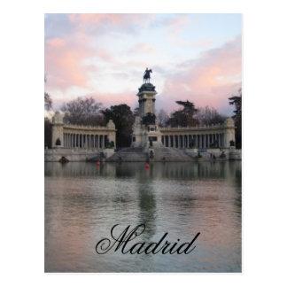 Postal Parque de Retiro, Madrid, España