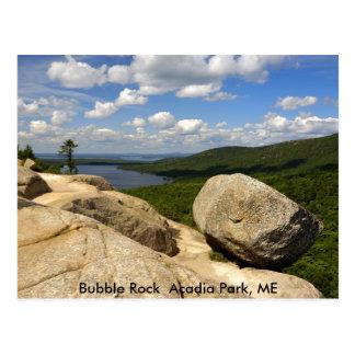 Postal Parque del Acadia de la roca de la burbuja, YO