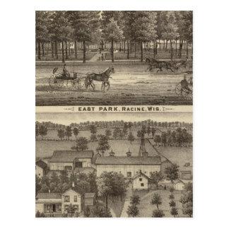 Postal Parque del este, Racine y granja de Oakland