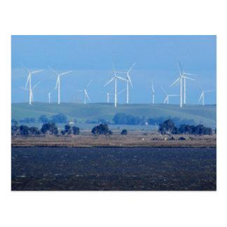 Postal - parque eólico en el delta