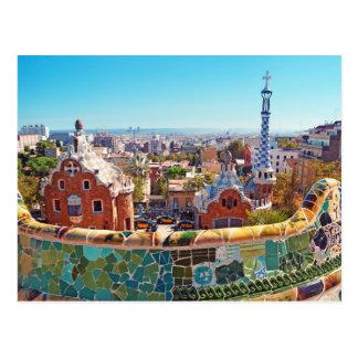 Postal Parque Guell, Barcelona - España