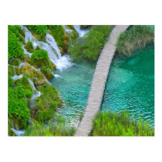Postal Parque nacional de Plitvice en pistas de