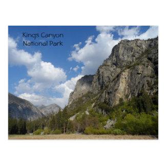 Postal Parque nacional de reyes Canyon del prado de