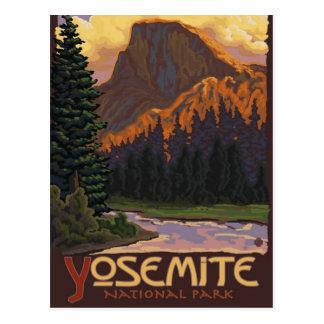 Postal Parque nacional de Yosemite - media bóveda -