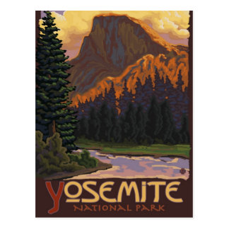 Postal Parque nacional de Yosemite - medio poster del