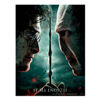 Postal Parte 2 de Harry Potter 7 - Harry contra Voldemort