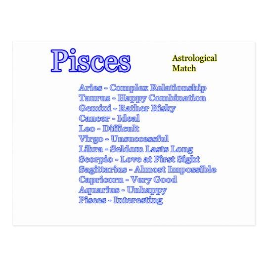 Postal Partido astrológico de Piscis los regalos de
