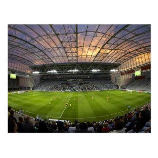 Postal Partido de fútbol, estadio de Forsyth Barr,