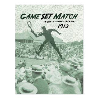 Postal Partido determinado del juego: Poster del tenis