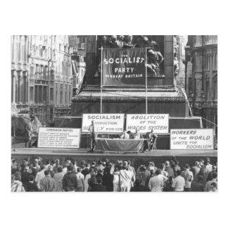 Postal Partido Socialista de Gran Bretaña Trafalgar 1967