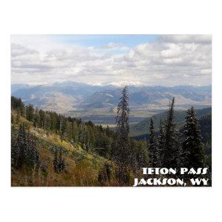 Postal paso del teton, paso de Teton, Jackson, WY