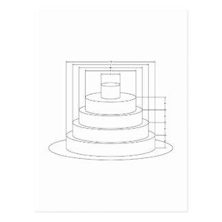 Postal Pastel de bodas arquitectónico