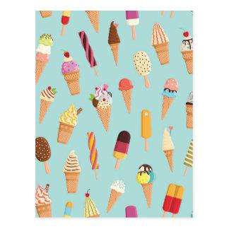 Postal Pasteles del helado
