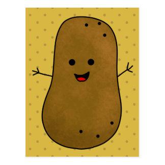 Postal Patata feliz linda