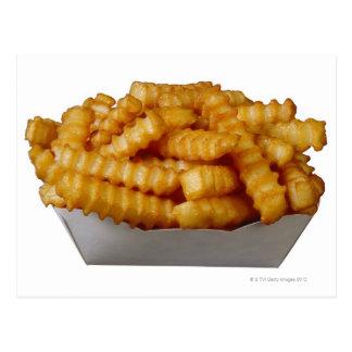 Postal patatas fritas del Arruga-cut