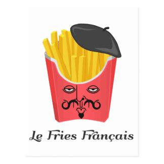 Postal Patatas fritas del Le de Francia