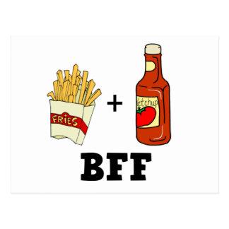 Postal Patatas fritas y salsa de tomate BFF
