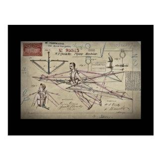 Postal Patente del planeador de la máquina de vuelo