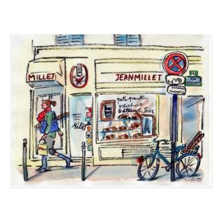 Postal Patisserie París del mijo de Jean por el