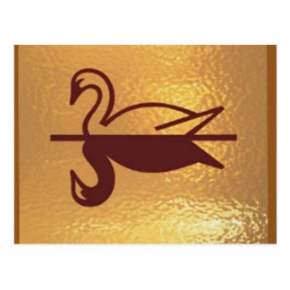Postal Pato de oro de los pájaros