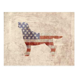 Postal patriótica de la bandera americana del