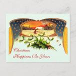 Postal patriótica del navidad del vintage WWI