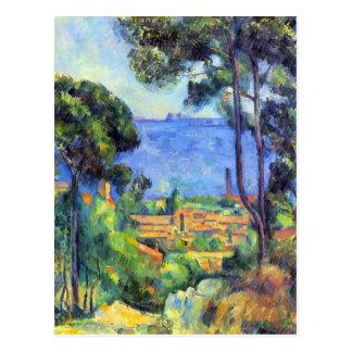 Postal Paul Cezanne - scape de la tierra