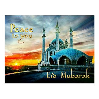 Postal Paz a usted mezquita Eid Mubarak
